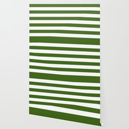 Simply Stripes in Jungle Green Wallpaper