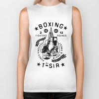 boxing Biker Tanks featuring Boxing by T-SIR | Oscar Postigo