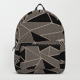 Geometric Abstract Origami Inspired Pattern Backpack