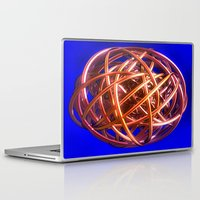 the wire Laptop & iPad Skins featuring Wire Ball by Brian Raggatt