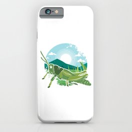 Insects Entomology Wildlife Animals Little Fly Grasshopper Gift iPhone Case