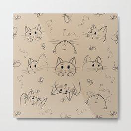 cat's expression Metal Print