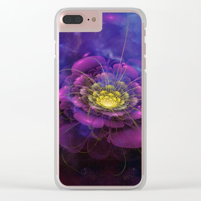 A Beautiful Fractal Flower 3 Clear iPhone Case