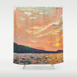 Tom Thomson - Smoke Lake - Canada, Canadian Oil Painting - Group of Seven Shower Curtain