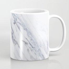 White Marble with Classic Black Veins Coffee Mug