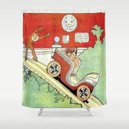 Little Nemo's moonlight ride Shower Curtain