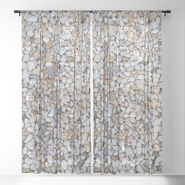 Beach Pebbles Sheer Curtain