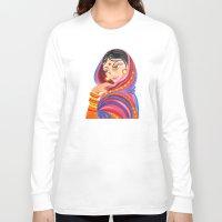 hindu Long Sleeve T-shirts featuring Hindu Woman by IlyLilyArt