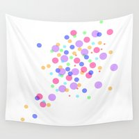 confetti Wall Tapestries featuring Confetti by DuniStudioDesign