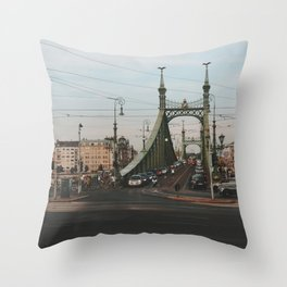 Liberty Bridge, Budapest Throw Pillow