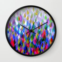 Purple Rain Wall Clock