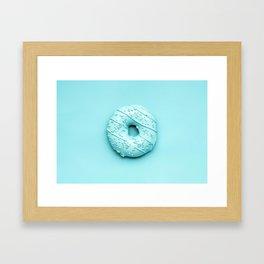 Blue Doughnut Framed Art Print