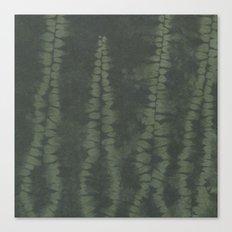 Shibori Ferns Canvas Print