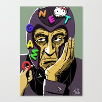 magneto Canvas Prints featuring Magneto by Nathan Jackson Artist
