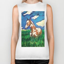 Painted fields Biker Tank