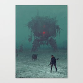 1920 - red wreck Canvas Print