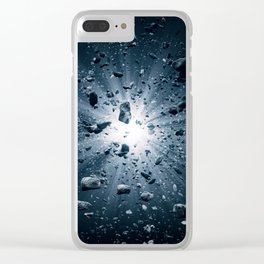 Big Bang explosion in space Clear iPhone Case