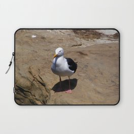 Me and My Shadow ~ Seagull at La Jolla, California Laptop Sleeve