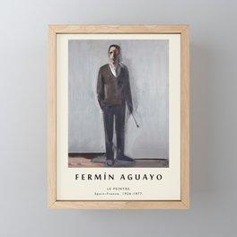 Poster-Fermin Aguayo-Le peintre. Framed Mini Art Print