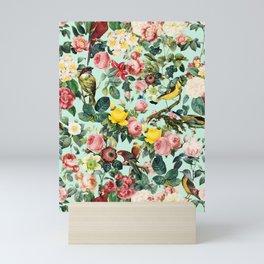 Floral and Birds III Mini Art Print