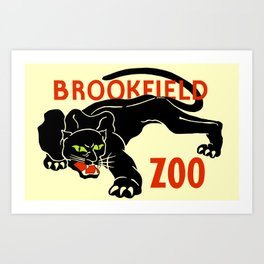 Black panther Brookfield Zoo ad Art Print