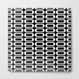 Geometric Pattern 252 (ovals and squares) Metal Print