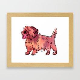 Hope - Dog Watercolour Framed Art Print