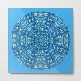 316 - Abstract Orb Design Blue Metal Print
