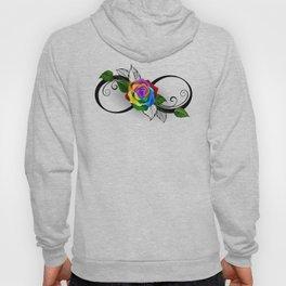Infinity Symbol with Rainbow Rose Hoody