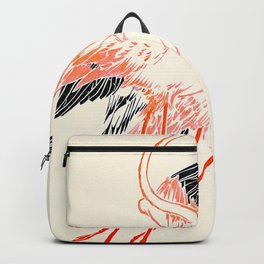 Cocorico cover 1900 Two Pink Flamingos Backpack