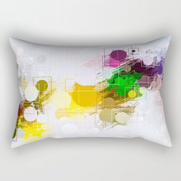 Happy Color Geometrical Pattern Abstract Rectangular Pillow