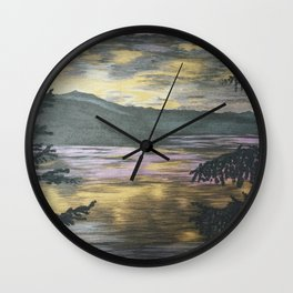 Metallic Sunset Wall Clock