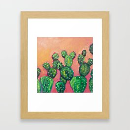 Prickly Pear Cacti Framed Art Print