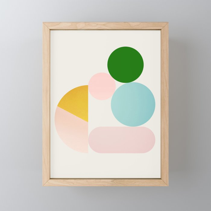 Abstraction_Minimal_Shapes_001 Framed Mini Art Print