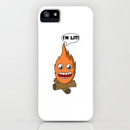 Young Fashion I'm Lit Tshirt Design iPhone Case
