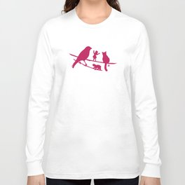 Girl tells a story to her friends Long Sleeve T-shirt