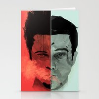 tyler durden Stationery Cards featuring Tyler Durden V. the Narrator by qualitypunk