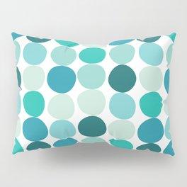 Midcentury Modern Dots Blue Pillow Sham