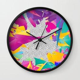 80s Abstract Wall Clock