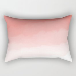 Living Coral Watercolor Ombre (Pantone Living Coral) Rectangular Pillow