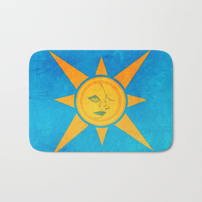Sun Shining and Moon Sleeping Bath Mat