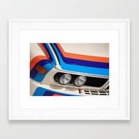 bmw Framed Art Prints featuring BMW CSL by Internal Combustion