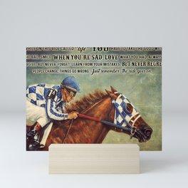 Horse Secretariat While On This Ride Mini Art Print