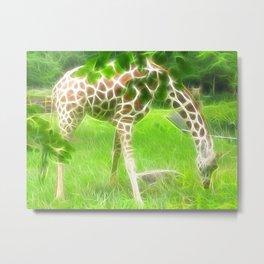 Fractal Giraffe Metal Print