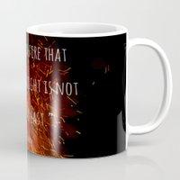 divergent Mugs featuring Divergent - Allegiant - Fire that burns that bright by TortoiseAddict46