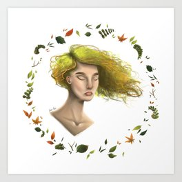 Lime Breeze Art Print