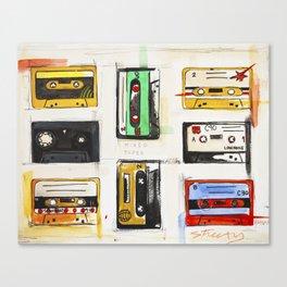 Mixed Tapes Canvas Print