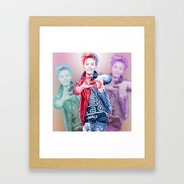 GD (GDRAGON) Framed Art Print
