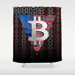 bitcoin USA  Shower Curtain