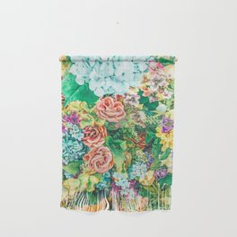 Vintage Garden #digital #nature Wall Hanging